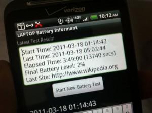 HTC ThunderBolt Battery Life