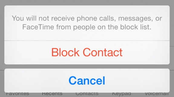 You can block contacts and unknown users in iOS 8.