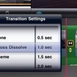 iMovie Transition Options iPad app