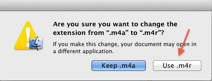 Change the file type to .m4r