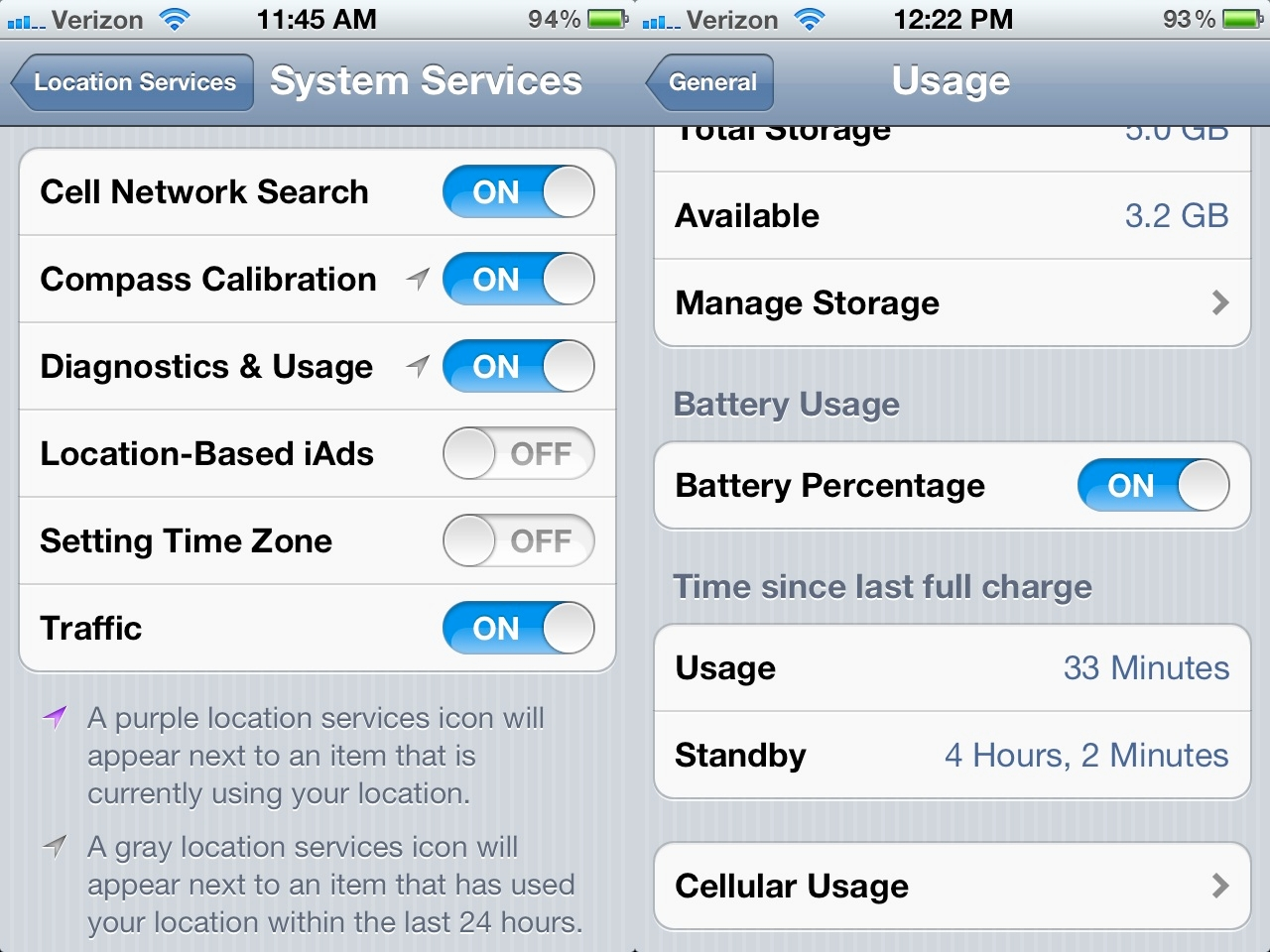 Improving battery life on ios 7 1