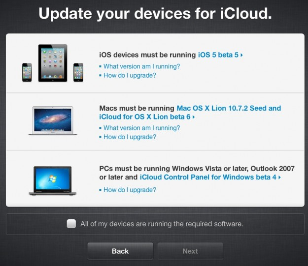 Requirements for MobileMe to iCloud migration