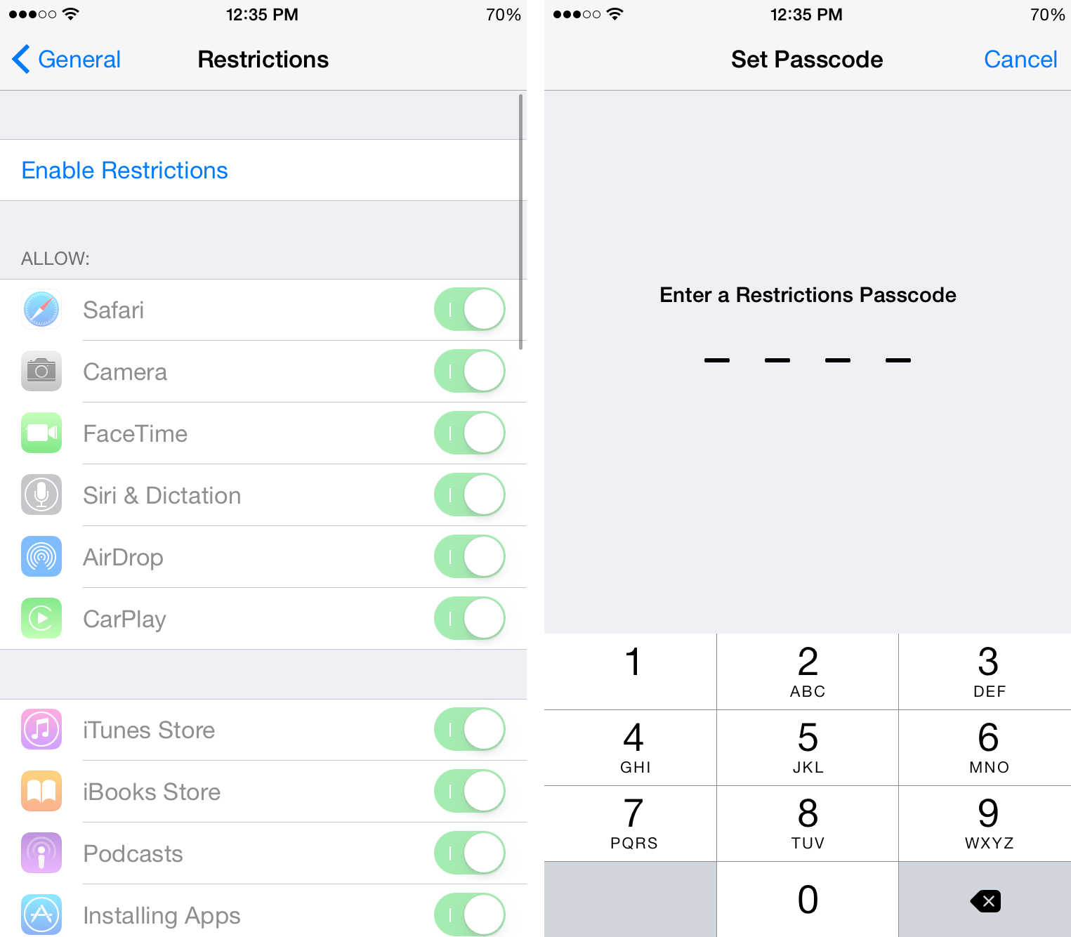 how to set parental controls on iphone how to set up iphone parental controls and content filtering 3182