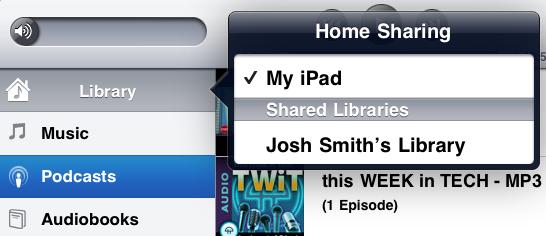 ipad 2 review home sharing