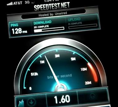 iPhone 4S 3G Speed test