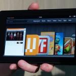 Amazon Kindle Fire landscape Home screen