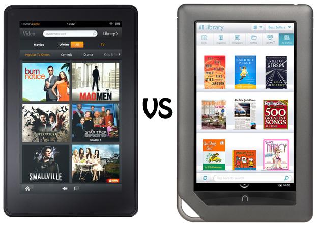 Amazon Kindle Fire vs. Barnes and Noble Nook Color