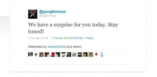 Google Nexus Tweet
