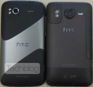 HTC Pyramid next to HTC Desire HD