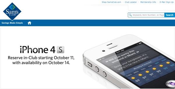 Sams iphone 4S preorders