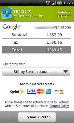 Sprint Carrier Billing