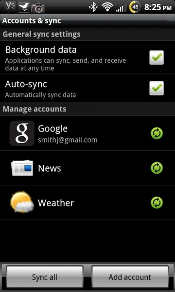 HTC Sync Control for better battery life